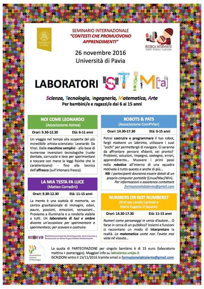 Locandina laboratorio Stima